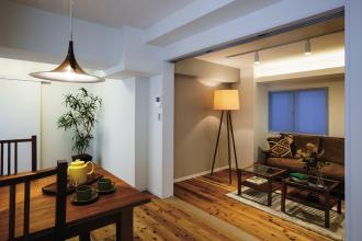 テナント空間を住み心地の良い賃貸マンションに再生したリノベーション