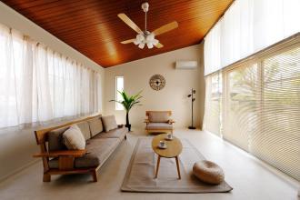 沖縄のリゾートホテルをイメージして叶えたセカンドハウス