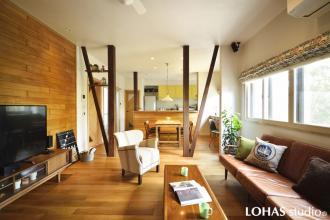 「北向きの部屋」が暖かい温もりの木の家