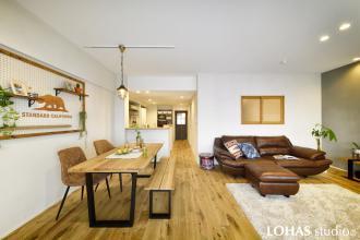 自然素材が心地よいSimple interior