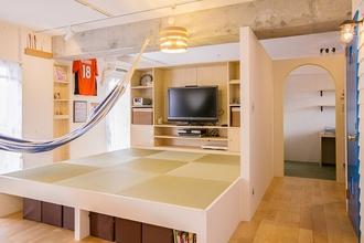 room blue ballen ~ 空間全体をワンルームのようにリノベーション